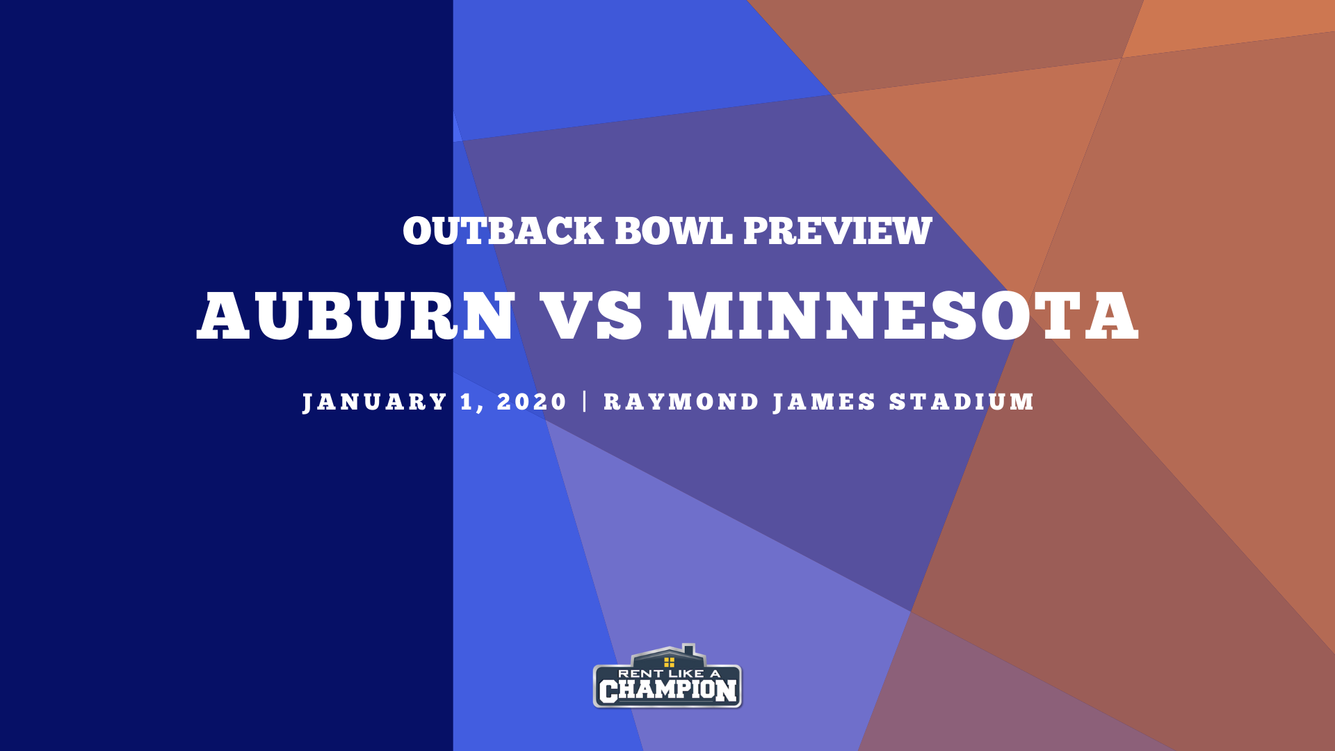 Outback Bowl Preview: Auburn and Minnesota get set for a New Year's clash
