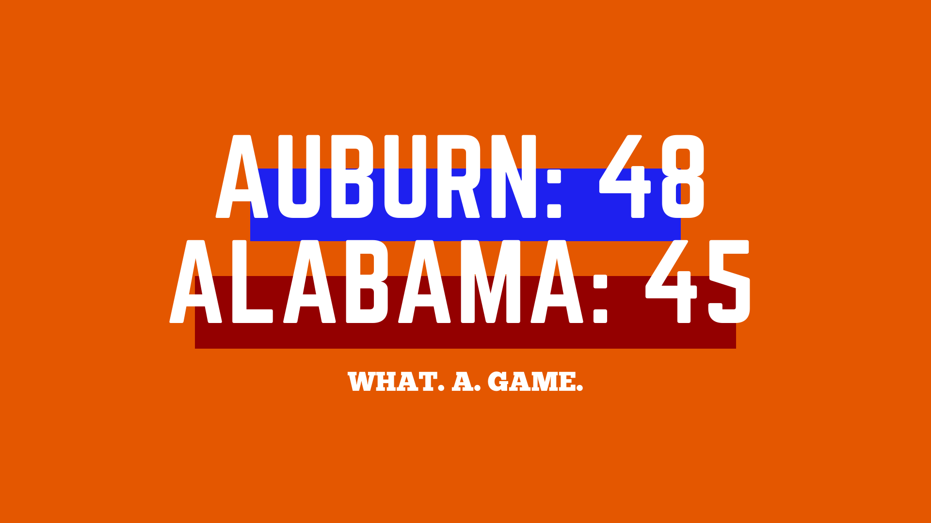 Auburn wins a historic Iron Bowl, squashes Bama's CFP hopes