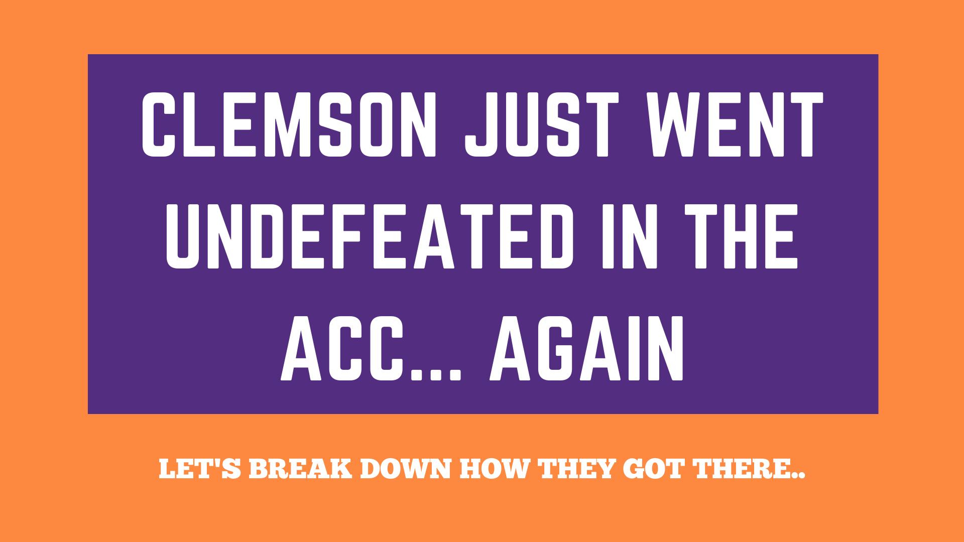 Clemson ACC Recap Template
