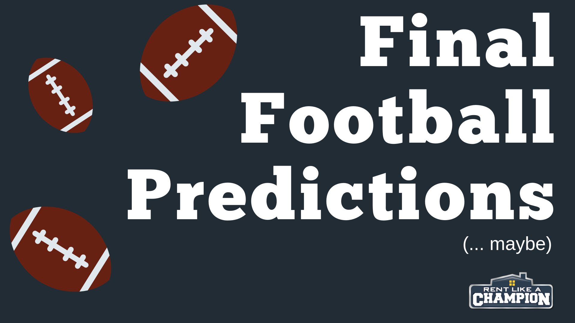 Final Football Predictions