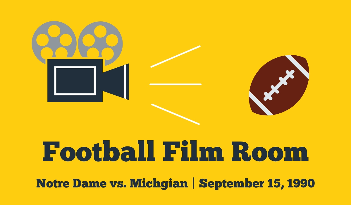 Football Film Room: 1990 Michigan at Notre Dame Match-Up