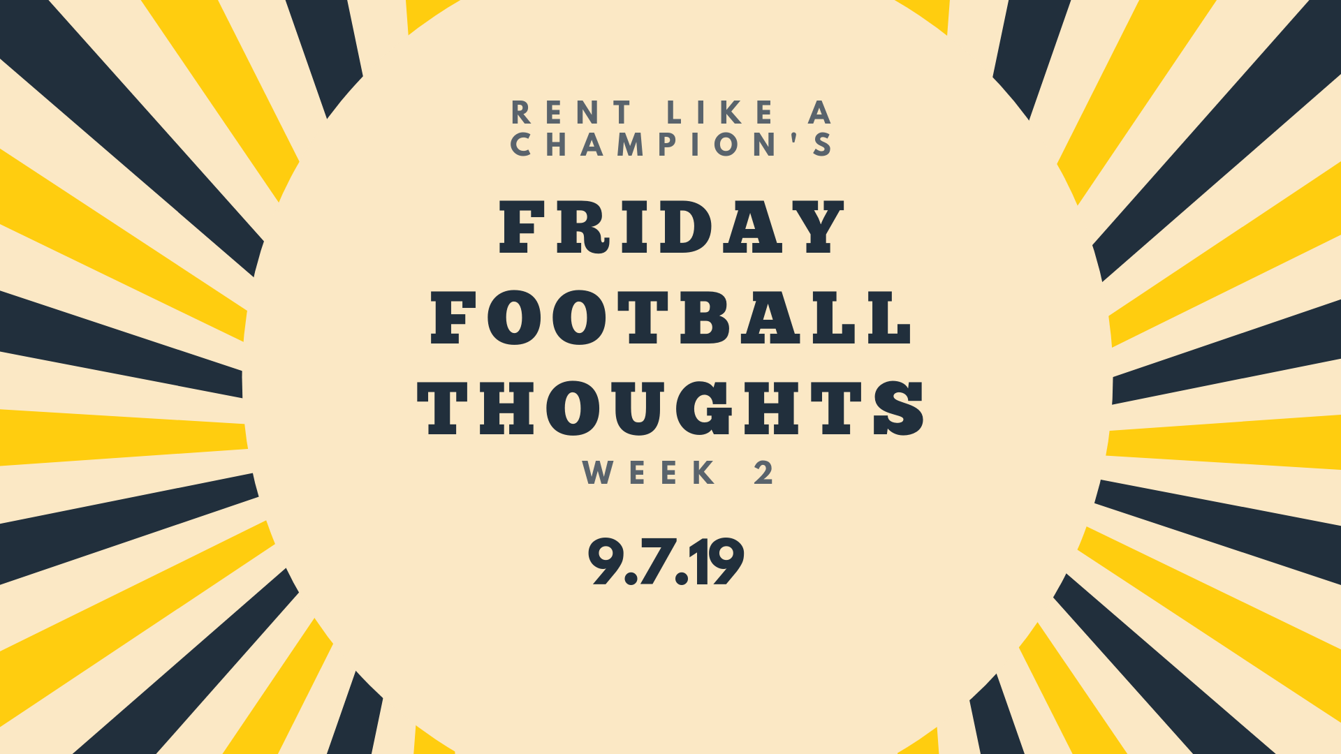 Friday Football Thoughts 9.6