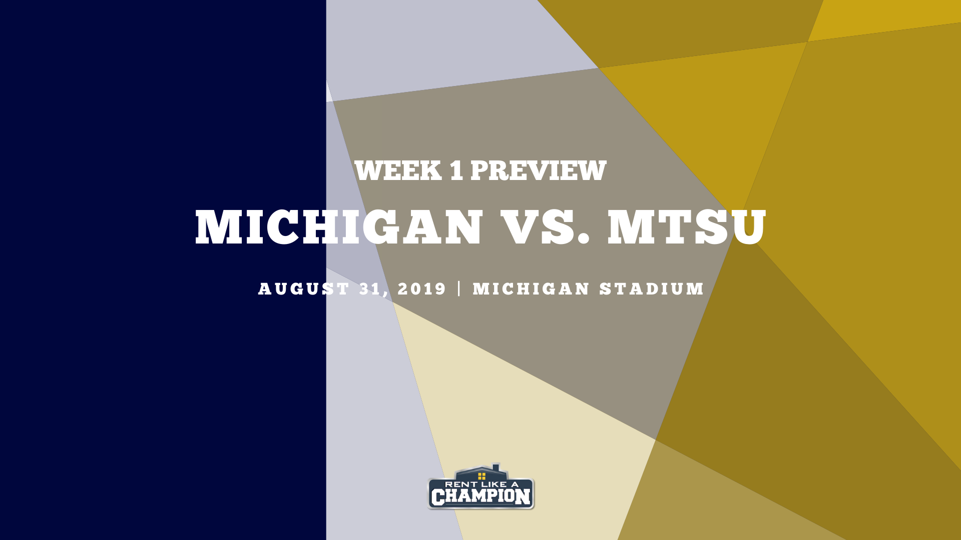 Michigan Game Preview Template