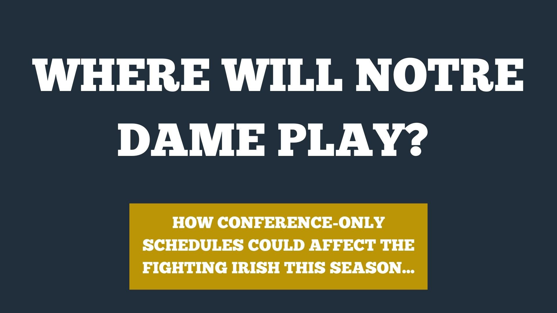 Where does Notre Dame's schedule stand in 2020?