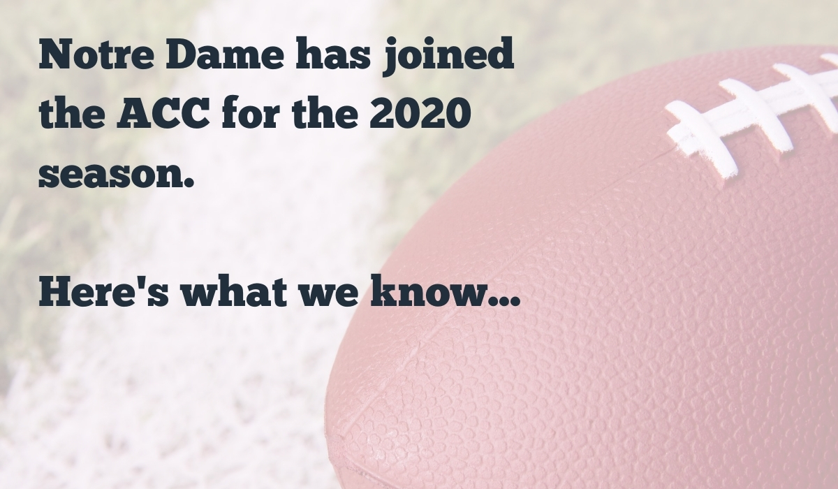Notre Dame has joined the ACC for the 2020 season. Here's what we know...