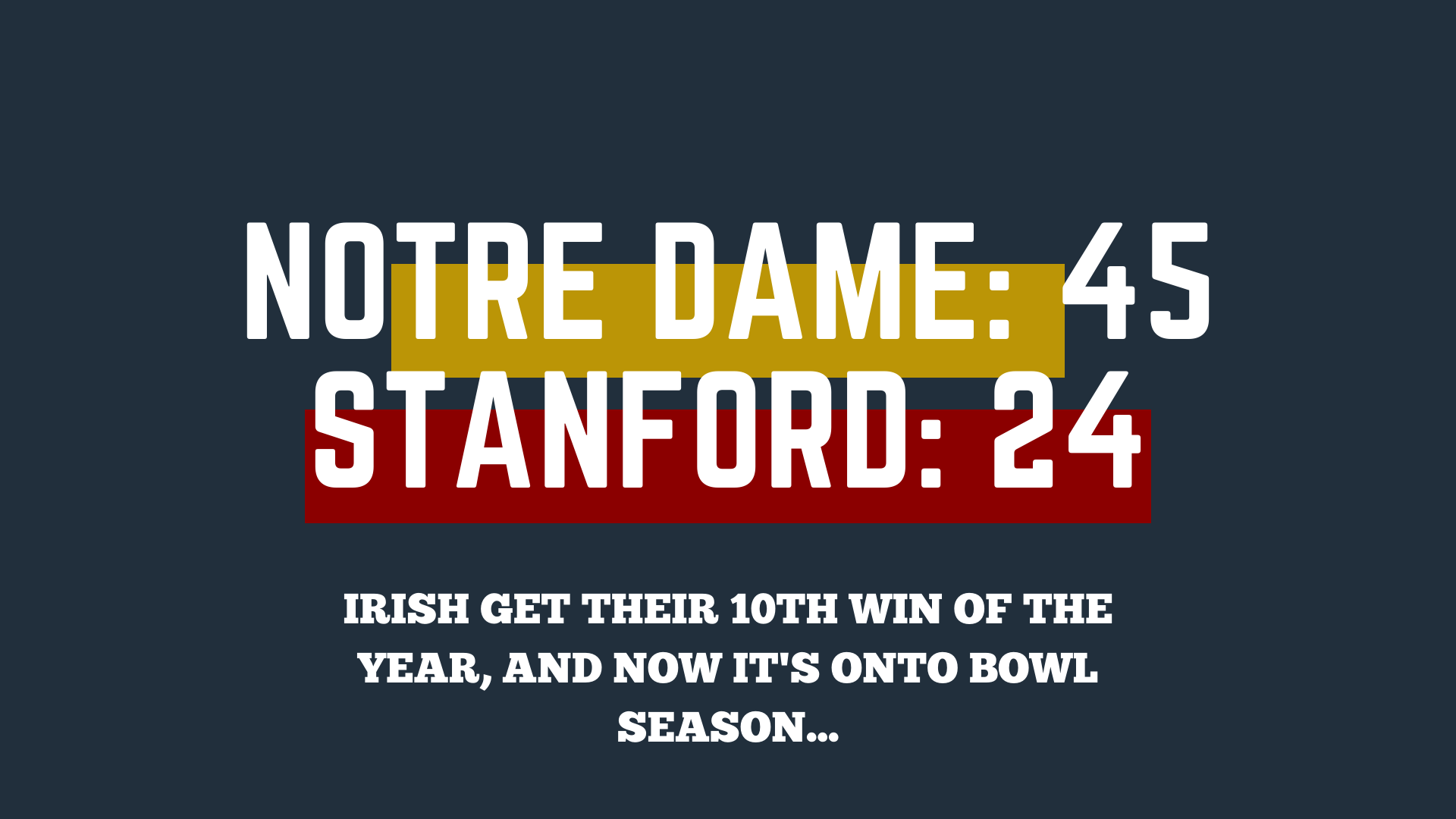 Notre Dame finds its footing at The Farm, gets 10th win of 2019