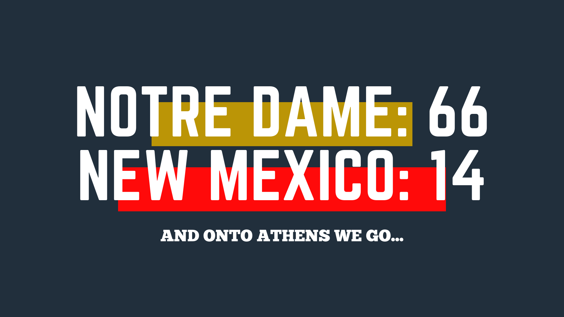 Notre Dame takes down New Mexico at home, and Georgia looms in the distance...