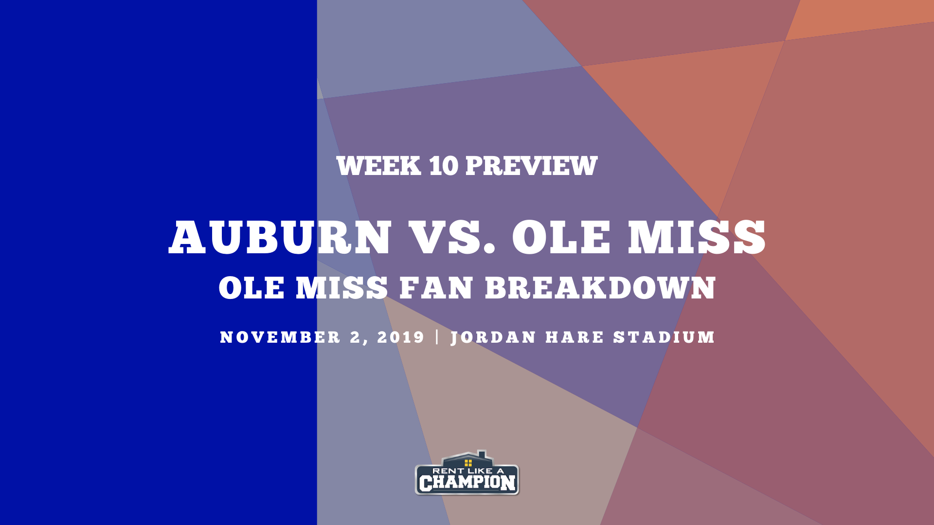 Ole Miss Game Preview Template Auburn Game