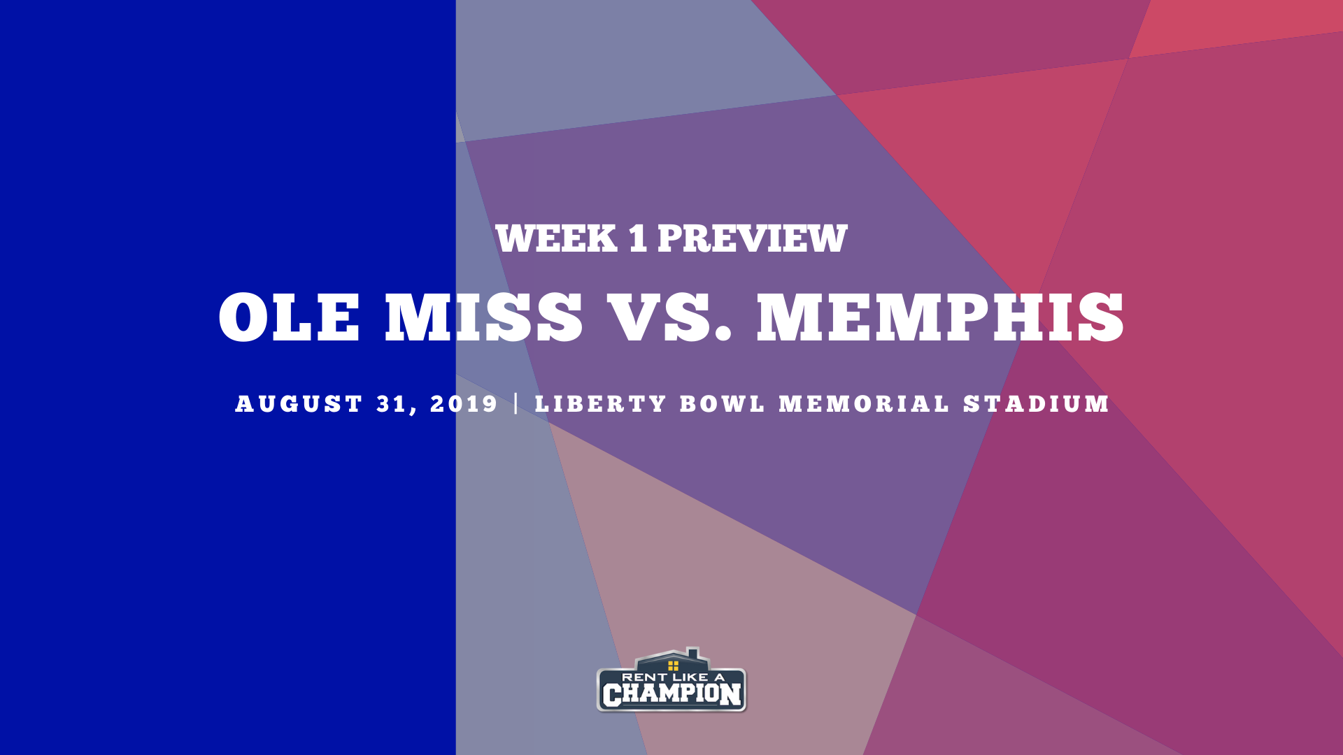 Ole Miss Game Preview Template