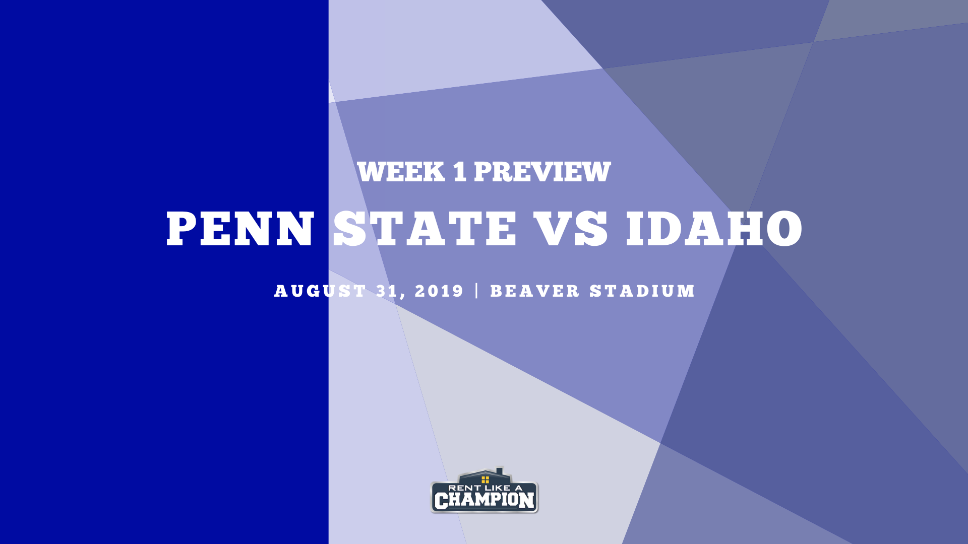 Penn State Game Preview Template