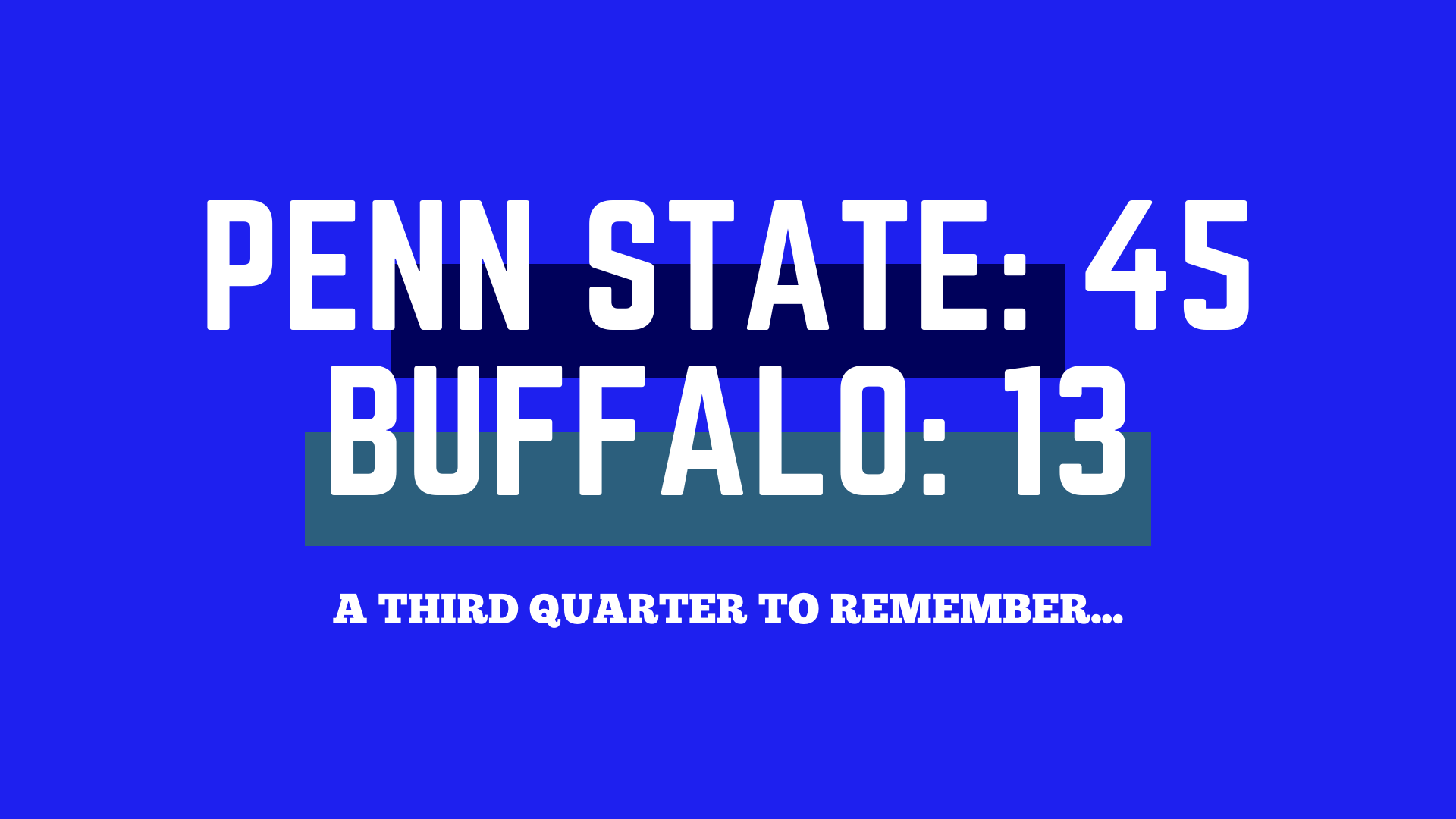 Just One Quarter Away: How Penn State Overcame a Slow Start to Rock Buffalo