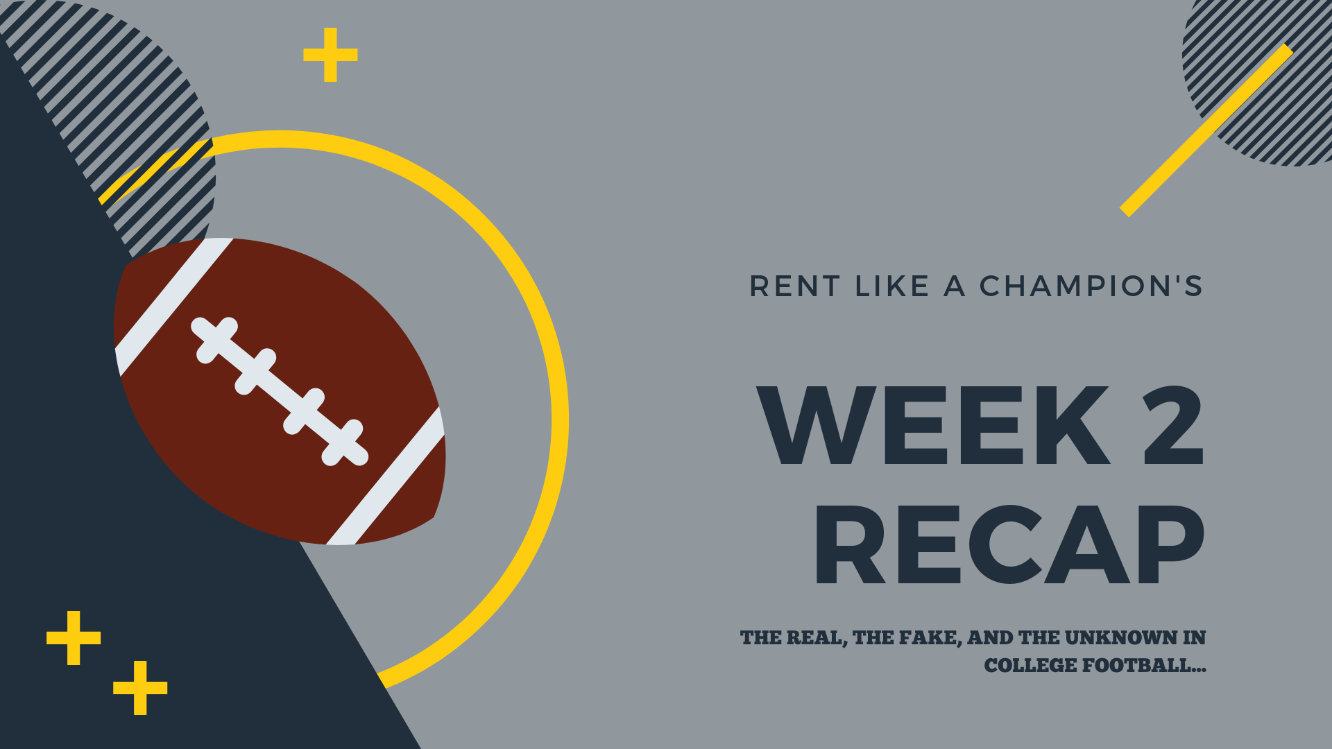 Fact, Fiction, and Undecided: Dissecting storylines through college football's first two weeks